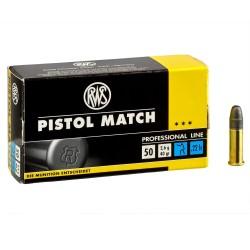 Cartouches cal.22lr - RWS - Pistol Match